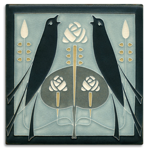 Motawi Tile: 8x8 Songbirds