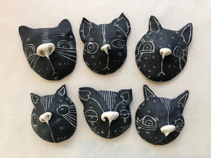 Oxide Pottery: Cat Critter Head