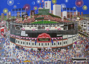 "Suzanne Aunan: ""Celebration at Wrigley Field"""