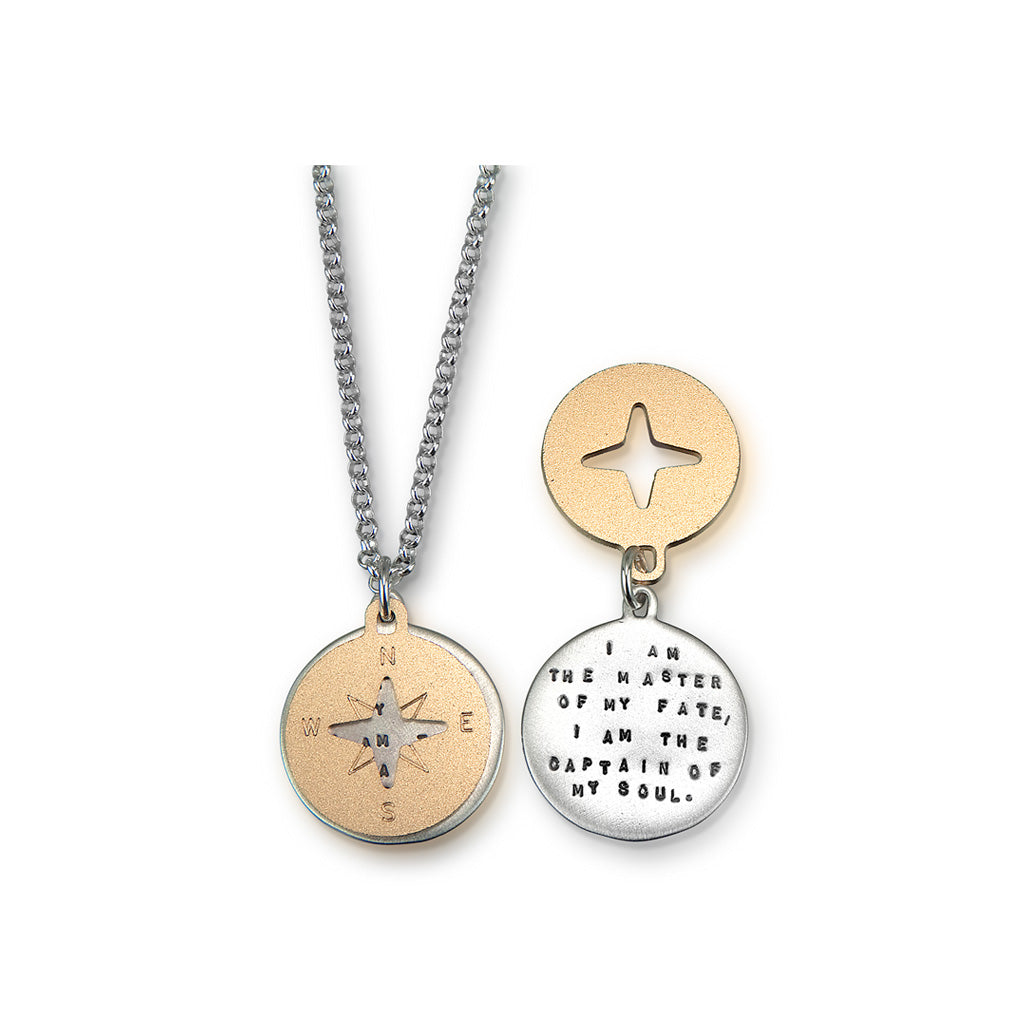 Kathy Bransfield: Pendant with Chain- Compass