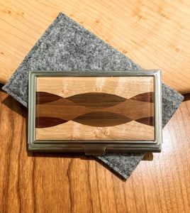 Davin & Kesler: Card Case Steel & Wood Wallet