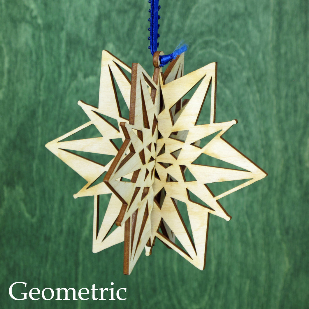 Doles Orchard: 3D Wooden Snowflake - 4