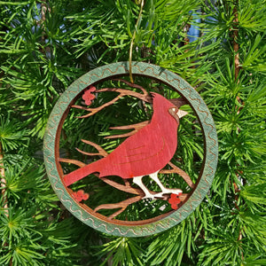 Doles Orchard: Layered Ornament - Cardinal
