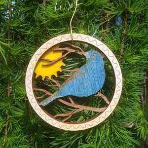 Doles Orchard: Layered Ornament - Indigo Bunting