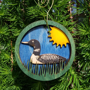 Doles Orchard: Layered Ornament - Loon