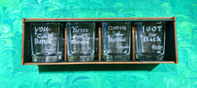 Doles Orchard: Liquor Quote Shot Glasses - 4 Pack