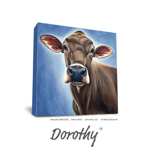 "Valerie Miller -- Steel Cow: Canvas Plaque- ""Dorothy"""