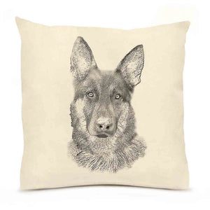 Eric & Christopher: Large German Shepherd Dog Pillow