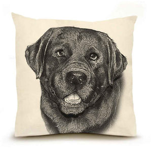 Eric & Christopher: Large Black Lab #2 Pillow