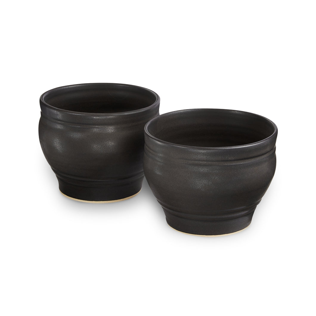 Hilborn Pottery: 2pc Whiskey Cups