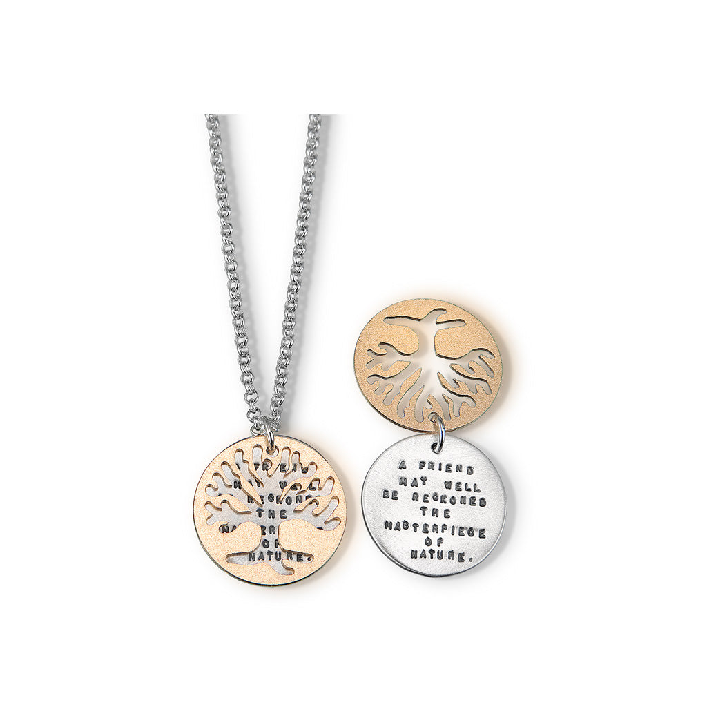 Kathy Bransfield: Pendant with Chain- Emerson Tree