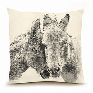 Eric & Christopher: Large Donkey Pillow