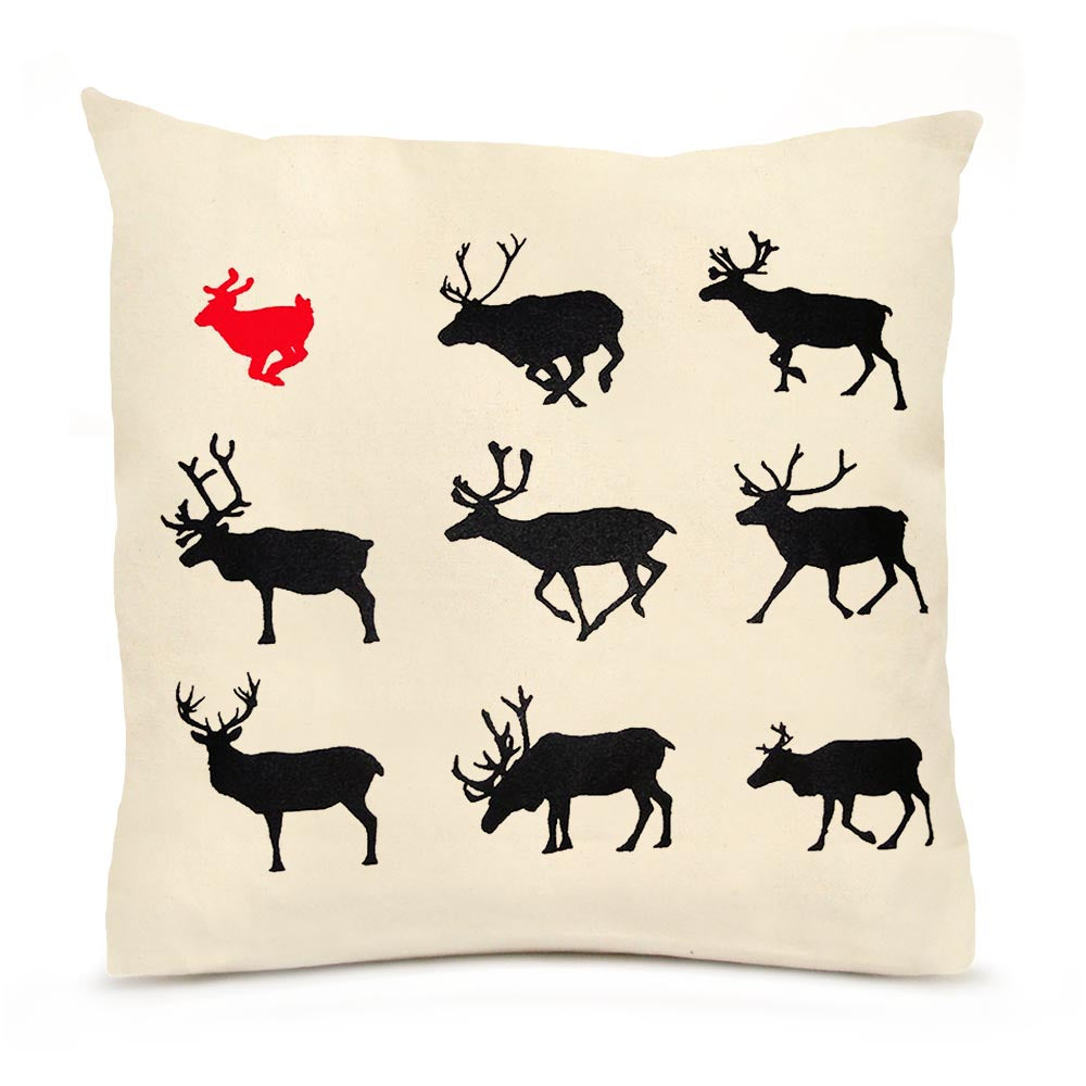 Eric & Christopher: Large Reindeer Pillow