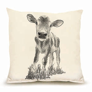 "Eric & Christopher: Medium Baby Cow ""Cowboy"" Pillow"