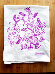 Kate Brennan Hall: Flowers and Bees Towel