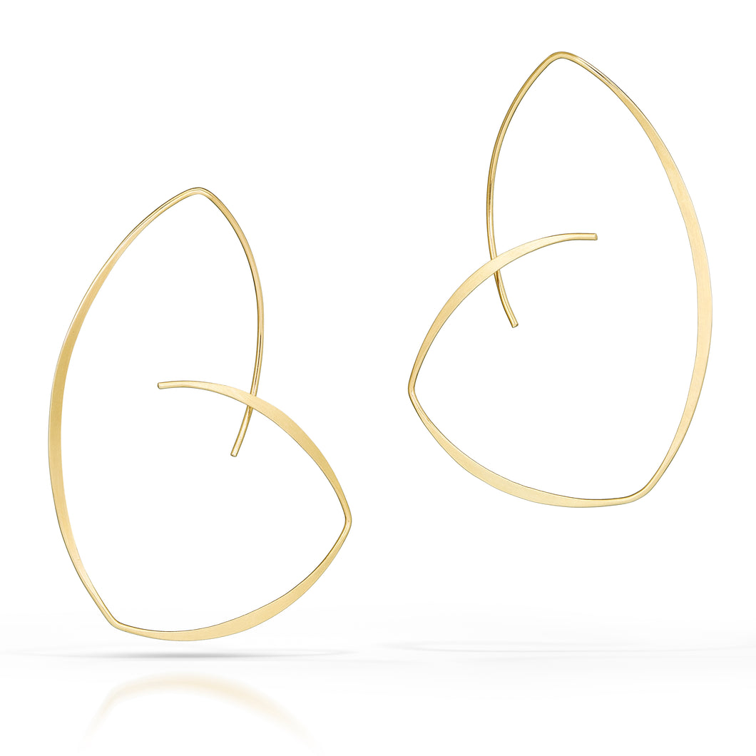 Susan Panciera: Golden Reuleaux Hoops 14k Gold Earrings