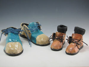 Richard Hess: Small Ceramic Shoes with Socks