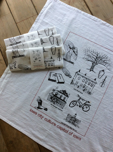 Astrid Bennett: Iowa City Tea Towel