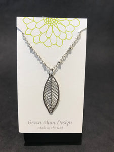 Green Mum Design: Stainless Leaf Earrings