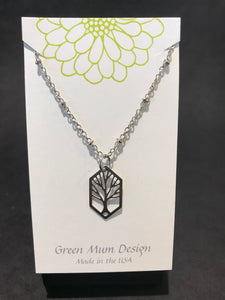 Green Mum Design: Stainless Tree Necklace