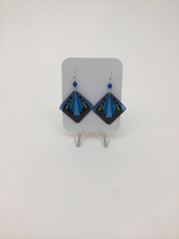 Karon Killian: Geometric Lines Square Earrings
