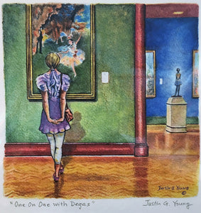 Justin Young: One on One with Degas (Giclee Print)
