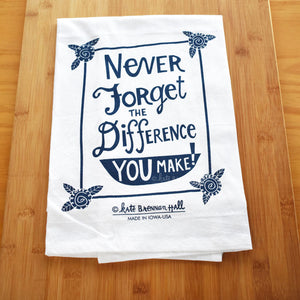 Kate Brennan Hall: Never Forget Tea Towel
