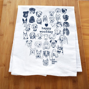 Kate Brennan Hall: Happy Woofday Towel