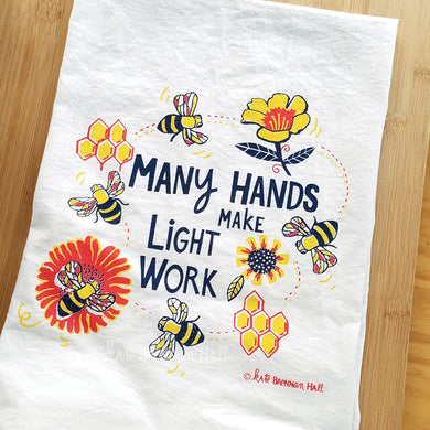 Kate Brennan Hall: Many Hands Towel