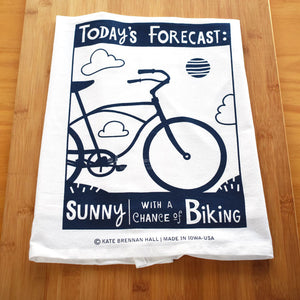 "Kate Brennan Hall: ""Today's Forecast"" Tea Towel"