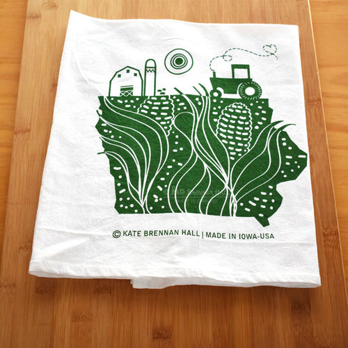 Kate Brennan Hall: Iowa Farm Tea Towel