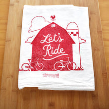 "Kate Brennan Hall: ""Let's Ride"" Tea Towel"