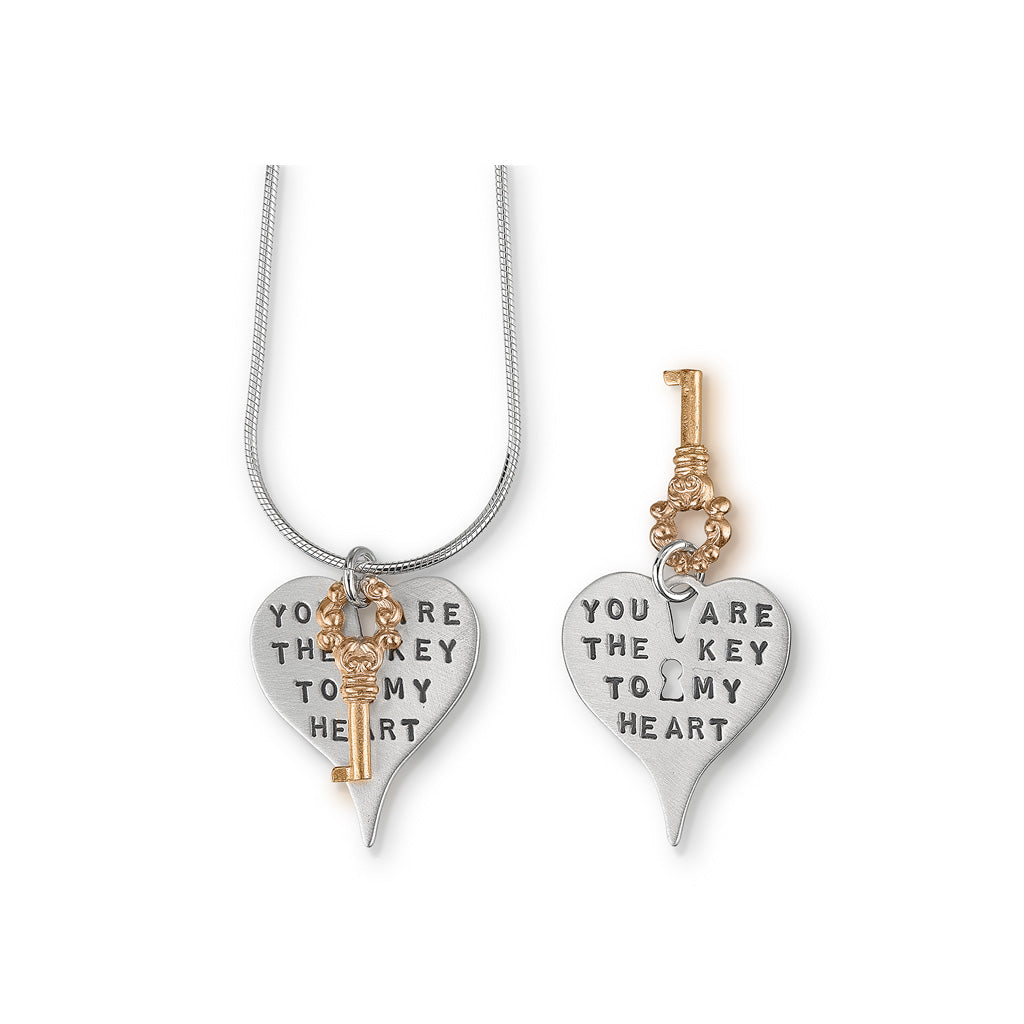 Kathy Bransfield: Pendant with Chain-Key to my Heart