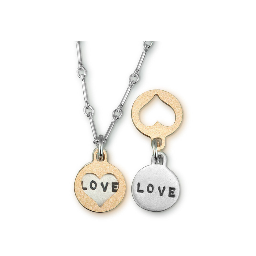 Kathy Bransfield: Pendant with Chain-Love