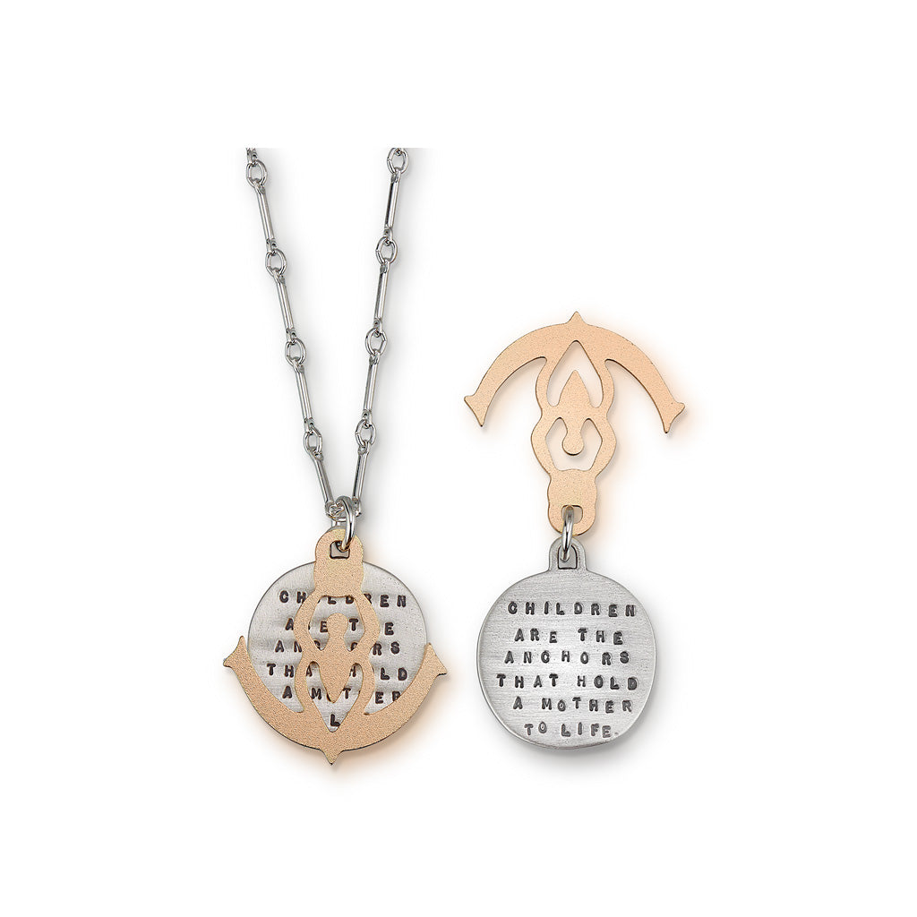Kathy Bransfield: Pendant with Chain-Mother and Child Anchor