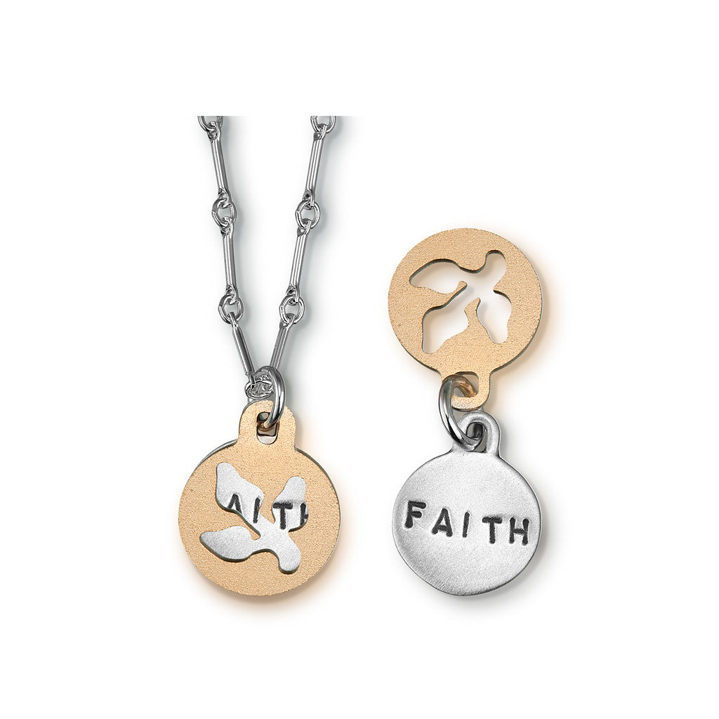 Kathy Bransfield: Pendant with Chain- Faith