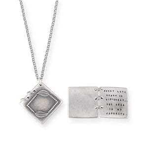 Kathy Bransfield: Pendant with Chain- Every Love Story...