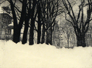 Larry Welo: A Gathering in the Clearing (original etching 4-5/100)