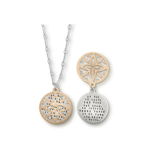 Kathy Bransfield: Pendant with Chain- Leave a Trail