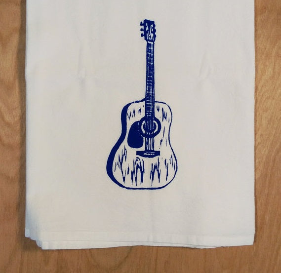 Elizabeth Stettler: Guitar Tea Towel