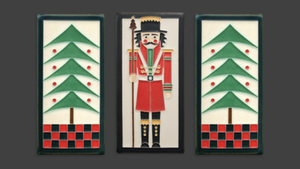 Motawi Tile: 4x8 Nutcracker - Peppermint