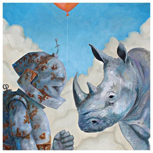 "Lauren Briere - Robots In Rowboats: ""Rhino Bot"" Print"