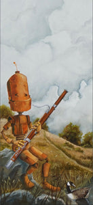 "Lauren Briere - Robots In Rowboats: ""Bassoon Bot"" Print"