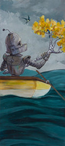 "Lauren Briere - Robots In Rowboats: ""Birds Bot"" Print"
