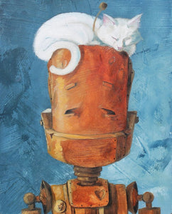 "Lauren Briere - Robots In Rowboats: ""Cat Bot"" Print"