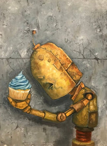 "Lauren Briere - Robots In Rowboats: ""Cupcake Bot"" Print"