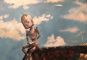 "Lauren Briere - Robots In Rowboats: ""Flight Bot"" Print"