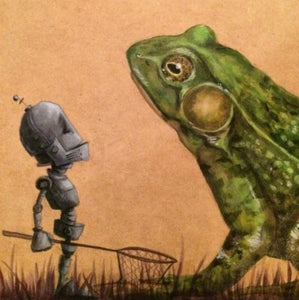 "Lauren Briere - Robots In Rowboats: ""Frog Bot"" Print"
