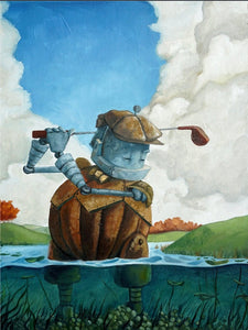 "Lauren Briere - Robots In Rowboats: ""Golf Bot"" Print"