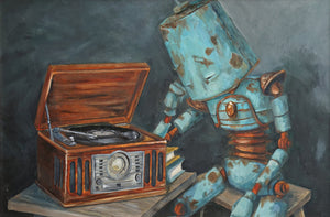 "Lauren Briere - Robots In Rowboats: ""Listening Bot"" Print"